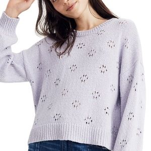 New Madewell Floral Pointelle Sweater
